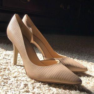 Nine West tan snake skins heels
